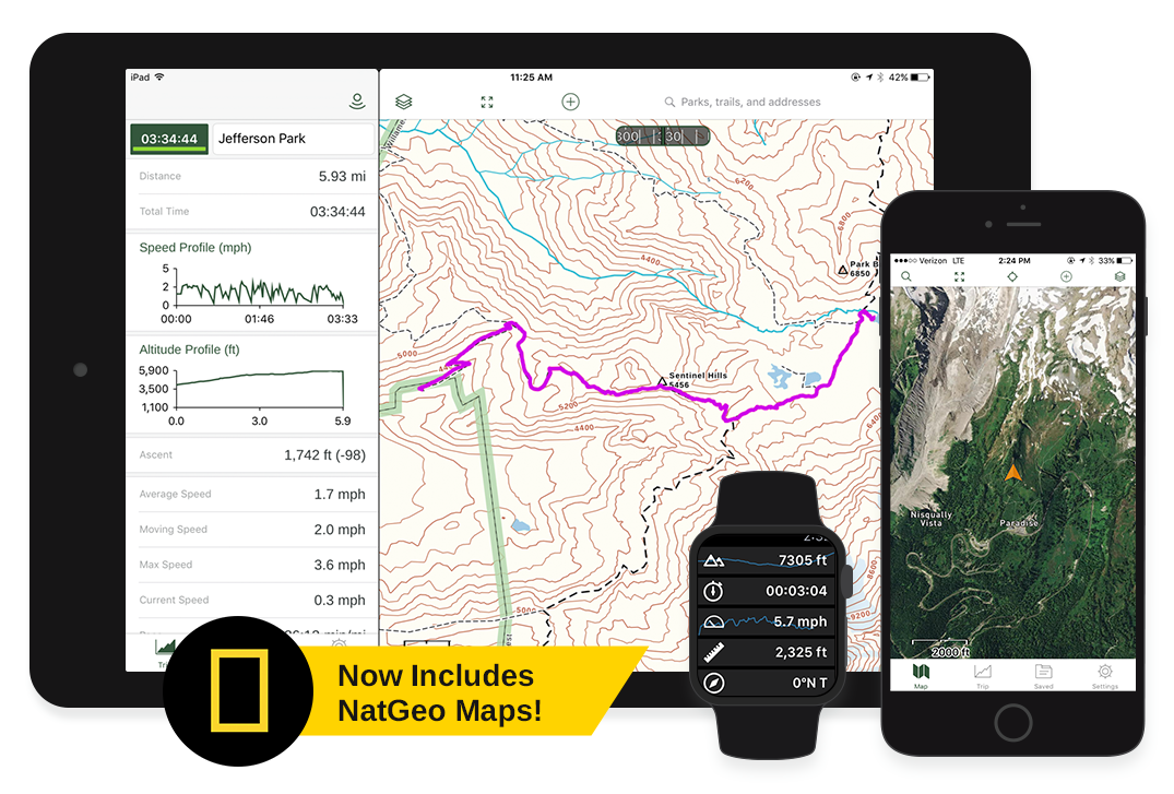 Hiking App Hiking Maps Gaia GPS - Free gps maps software download